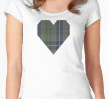 00385 Bird Family Tartan  Women's Fitted Scoop T-Shirt