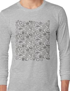 Board Game Pieces Long Sleeve T-Shirt