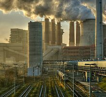 Power Station, Germany. by David A. L. Davies