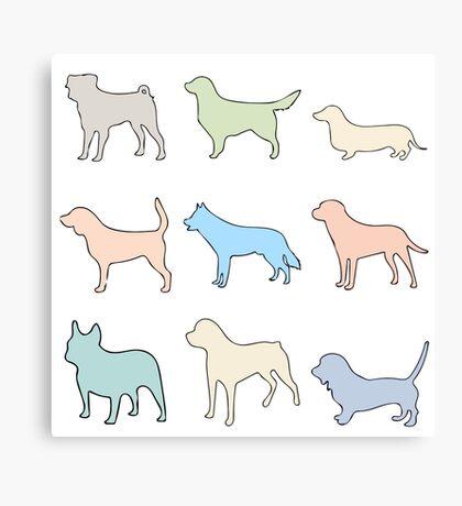 Pastel Dogs Canvas Print