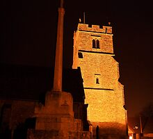 Holy Cross Church, Bearsted At Night by Dave Godden