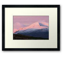Pre Dawn colours over Meall Nan Tarmachan (viewd 476 times at 11/01/13) Framed Print