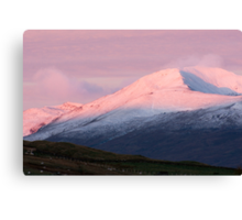 Pre Dawn colours over Meall Nan Tarmachan (viewd 476 times at 11/01/13) Canvas Print