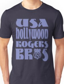 usa hollywood tshirt blue by rogers bros co Unisex T-Shirt