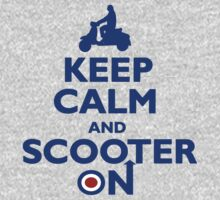 Keep Calm and Scooter On (blue) by Auslandesign