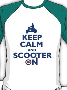 Keep Calm and Scooter On (blue) T-Shirt
