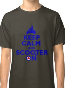 Keep Calm and Scooter On (blue) Classic T-Shirt