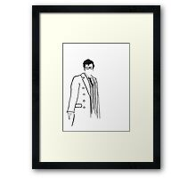 10th Doctor pen&ink Framed Print
