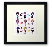 Tokyo Ghoul Chibi Characters  Framed Print