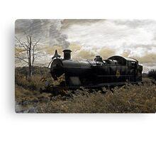 Steam Train at Cranmore station, Shepton Mallet, Somerset, UK  Canvas Print