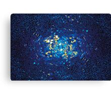 3D Blue Glass Mosaic with light reflections Canvas Print