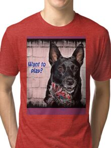 WANT TO PLAY? Tri-blend T-Shirt