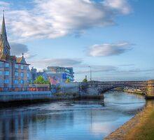 The Steeple & The Bridge - Dublin, Ireland by Mark Richards
