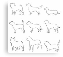 Monochrome Dogs Canvas Print