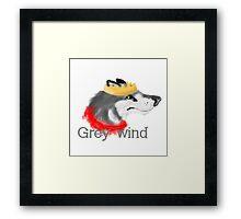 Grey Wind Framed Print