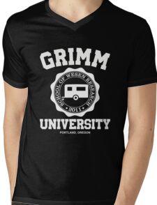Grimm University Mens V-Neck T-Shirt