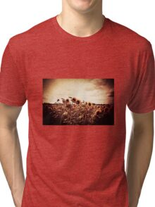 I Raise This Broken Halo To The Sky Tri-blend T-Shirt