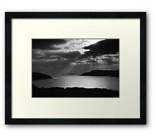 Oysterhaven Lightburst Framed Print