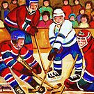 BELL CENTER HOCKEY GAME by Carole  Spandau