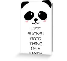 Emo Panda Greeting Card