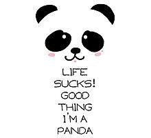 Emo Panda Photographic Print