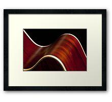 Ribbon Guitar Framed Print