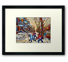 DEBULLION STREET HOCKEY GAME Framed Print