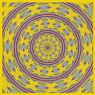 Patterned Kaleidoscope in Yellow and Gray by Sarah Curtiss