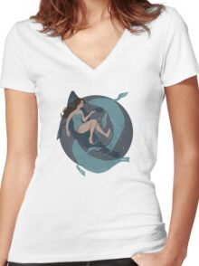 Selkie Women's Fitted V-Neck T-Shirt