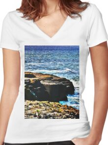 A Thousand Tides May Rise And Fall Women's Fitted V-Neck T-Shirt
