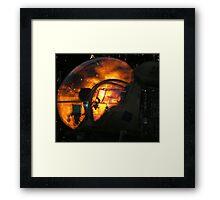 Sunset Sioux Framed Print
