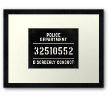 Mugshot sign Framed Print