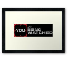 Person of Interest - You Are Being Watched Framed Print