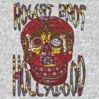 usa hollywood skull  tshirt  by rogers bros co by usamaine