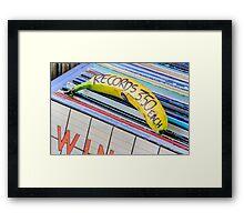Cheap Records Framed Print