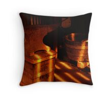 Blacksmith sunset Throw Pillow