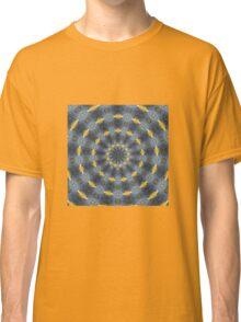 Gray and gold Kaleidoscope pattern Classic T-Shirt