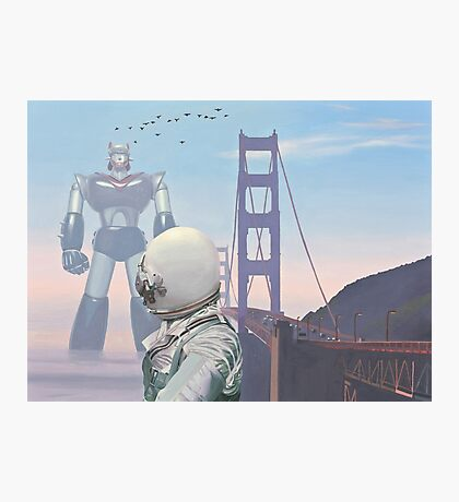 A Very Large Robot Photographic Print