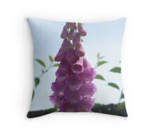 pink drop flowers at Osbourne House Throw Pillow
