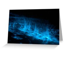 Bioluminescent Splashes Greeting Card