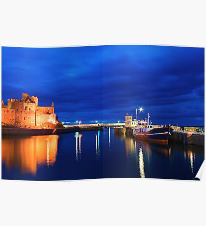 Peel Castle by Night Poster