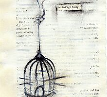 the birdcage hung by CherieStrongArt