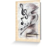 snatches of music bursting forth Greeting Card