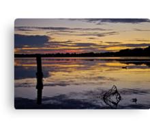 Sunrise on the Budgewoi Lake. ( 11-2-11 ) Canvas Print
