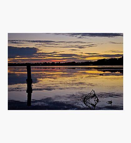 Sunrise on the Budgewoi Lake. ( 11-2-11 ) Photographic Print