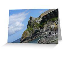 sea view at Polperro Greeting Card