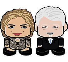 Clintons: Greater Together Politico'bot Toy Robots Photographic Print