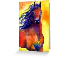 Arabian Horse #1 painting Svetlana Novikova Greeting Card