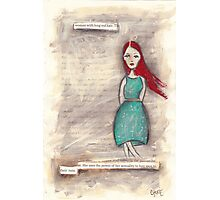 woman with long red hair Photographic Print