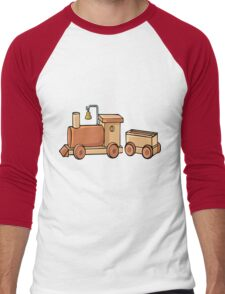 Wooden Train Men's Baseball ¾ T-Shirt